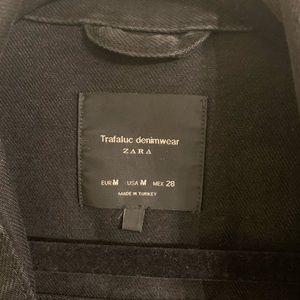 "Zara Jackets & Coats - ""Make Mama Proud"" Zara Destroyed Jean Jacket"